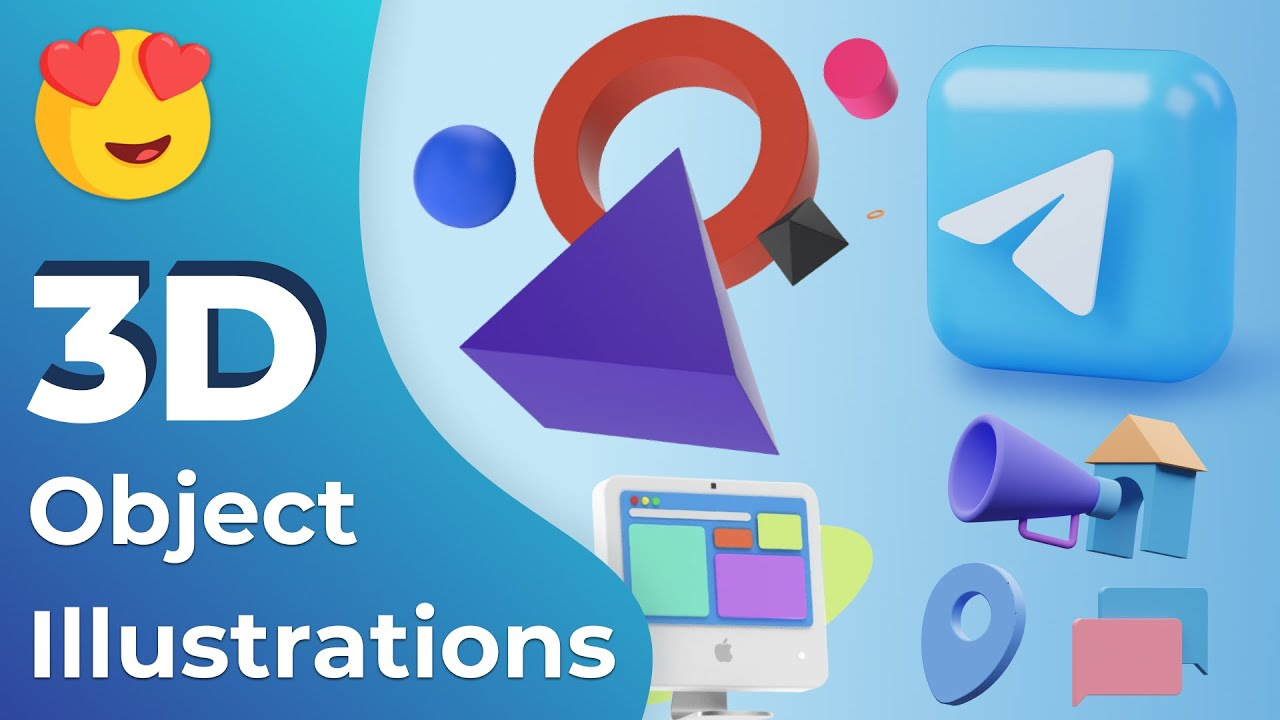 Cool 3D Object Illustrations   Free Design Resources