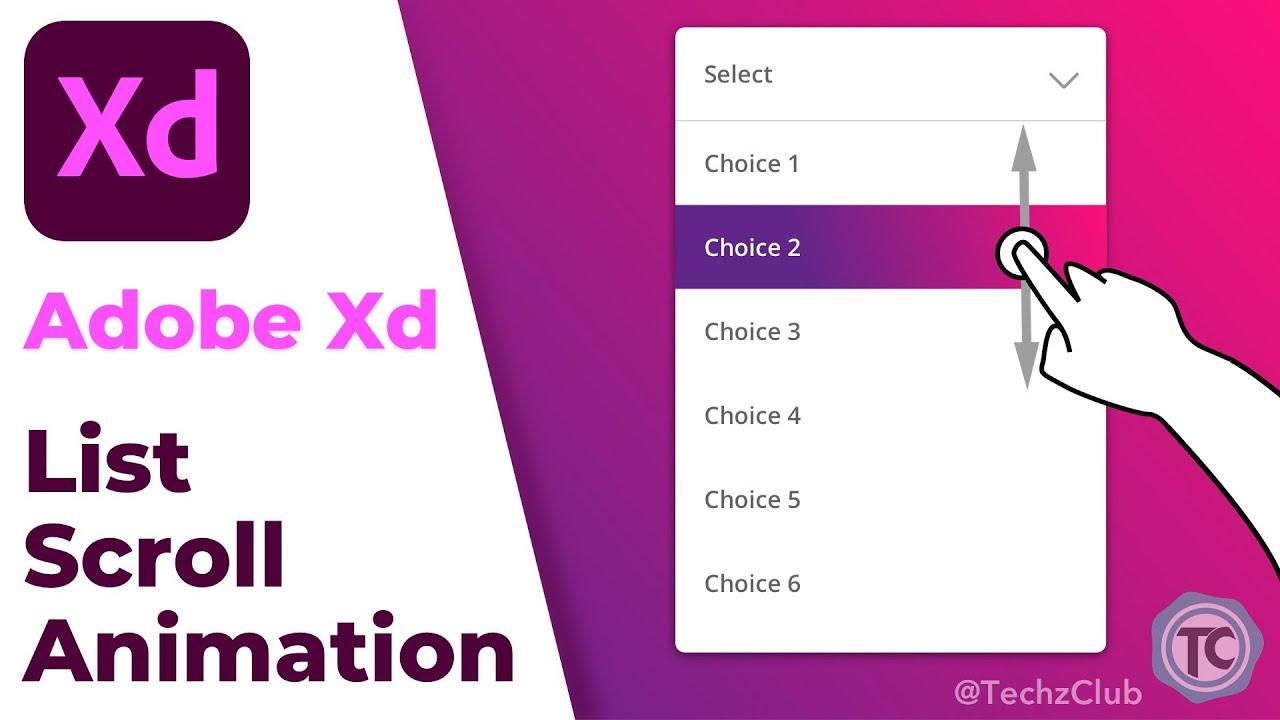 List Scroll Animations   Adobe XD Tutorial Series