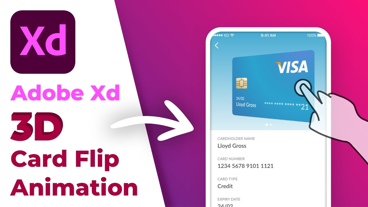 How to Create 3D Card Flip Animation using 3D Transforms in Adobe XD