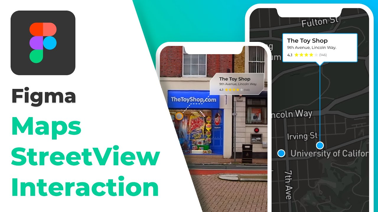 Creating Simple Maps/Street View Interaction Animation in Figma Using Overlays