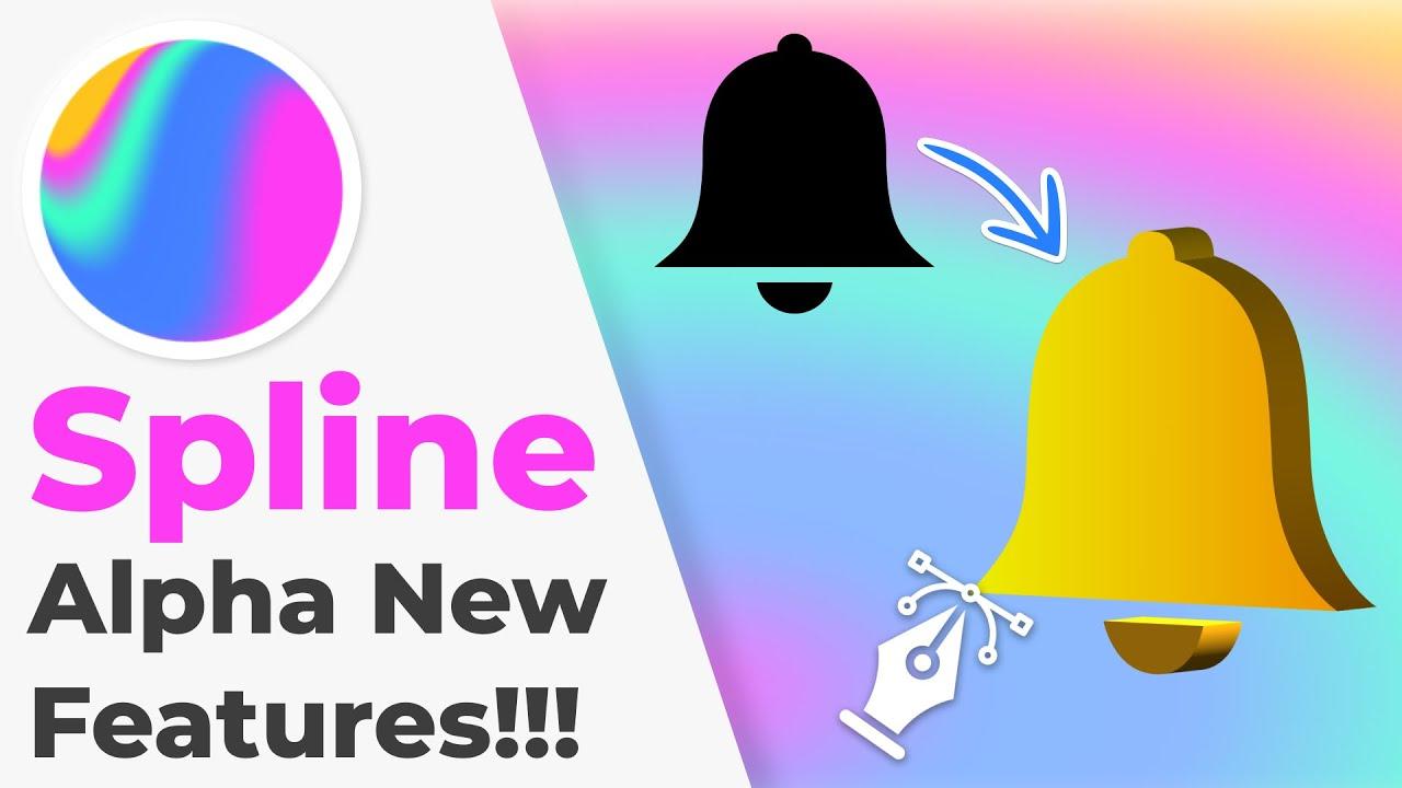 Spline Alpha Release - New Features   Convert 2D Vector to 3D Objects